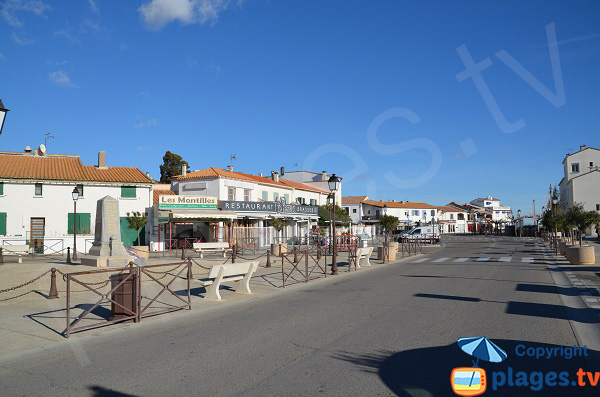 Centre ville des Saintes Maries de la Mer