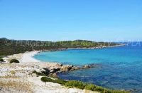 The beaches in the Agriates desert in Corsica