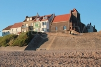 Audresselles, fishing village in the North of France