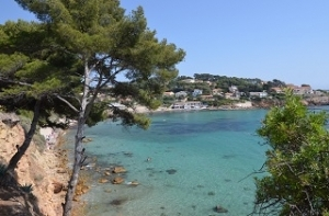 Beach holiday at Sanary-sur-Mer in the Var in France