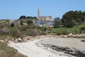 L'île Callot au large de Carantec en Bretagne