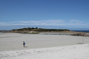 L'île de Sieck l'ile sauvage au large de Santec accessible à pied