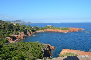 Agay in Esterel in France