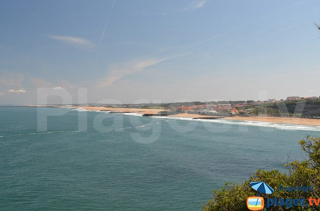 Anglet view from the sea - France