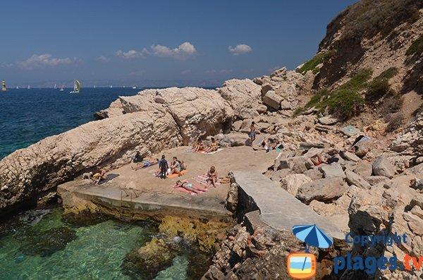 Beach in Malmousque (Marseille)
