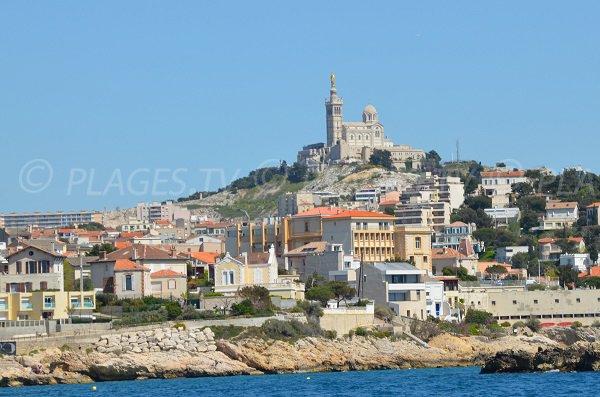 Notre Dame de la Garde et quartier de Malmousque à Marseille