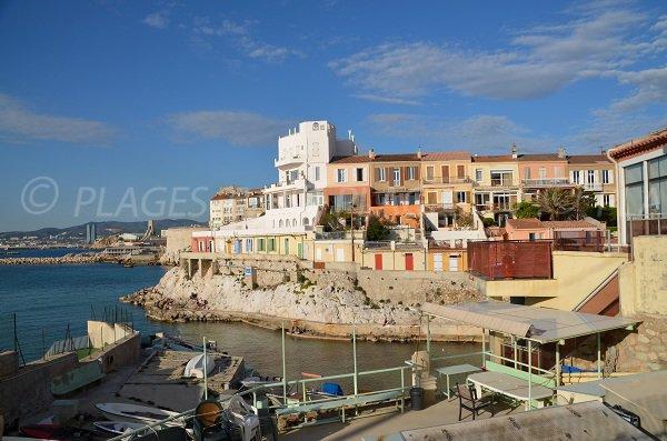 Malmousque calanque in Marseille