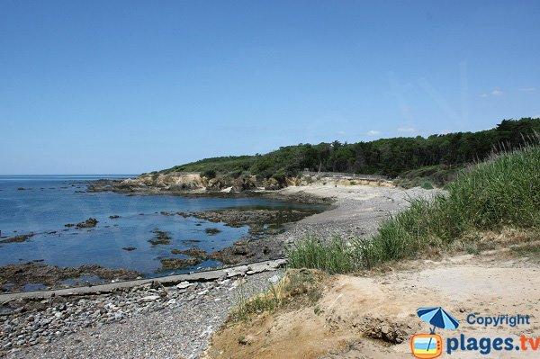 Photo de la plage dans l'anse de la Mine à Talmont Saint Hilaire