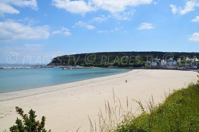 Bay of Morgat in Brittany in France