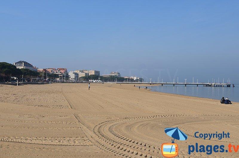 Plage et bord de mer d'Arcachon dans le centre ville