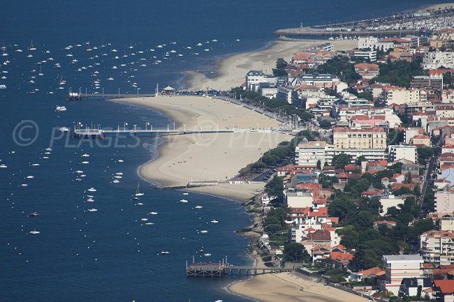 Seaside of Arcachon in France