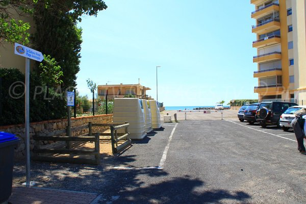 Access and parking of Casino beach - Valras-Plage