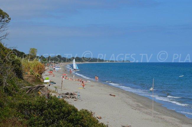Baheera plage sur la Côte Orientale Corse