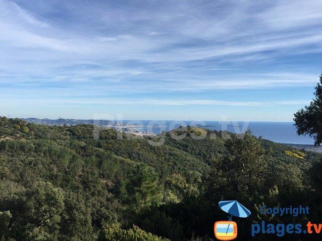 Baie de Cannes et de Mandelieu vue depuis le Tanneron