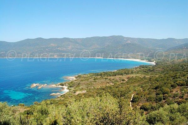 Photo de la baie de Cupabia à proximité de Porto Pollo (Corse du Sud)