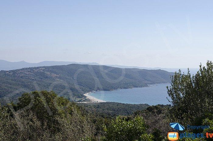 Baie de Cupabia en venant d'Ajaccio