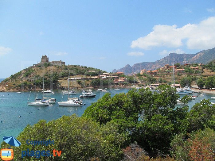 Bay of Girolata in Corsica