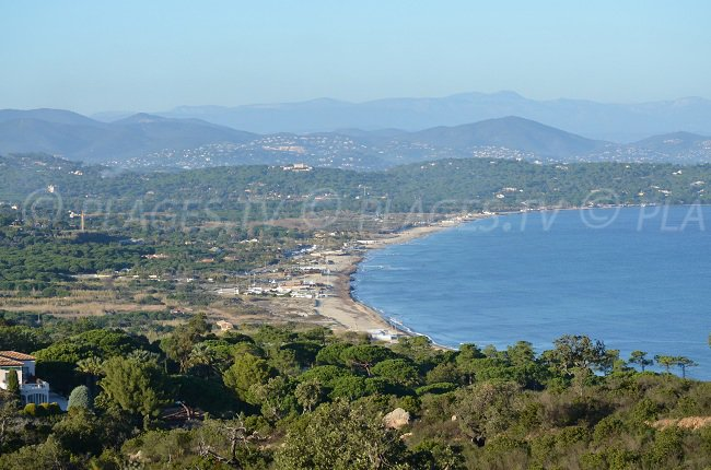 Bay of Pampelonne with its beaches - France