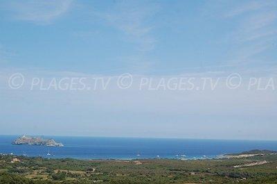 Barcaggio dans le Cap Corse vue depuis Ersa