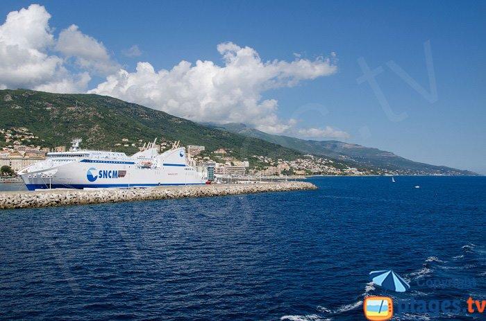 Bastia harbor in Corsica - Cap Corse