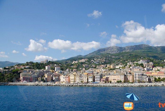 Bastia from the sea - Corsica