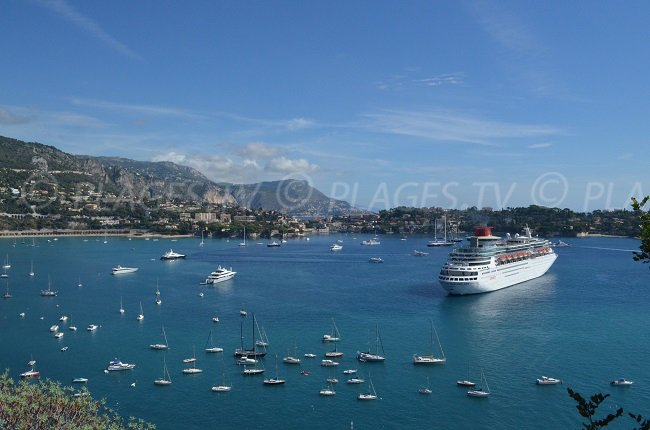 Cruise ship in the bay of Villefranche