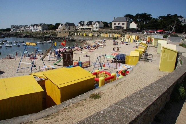 The beach huts of Batz sur Mer