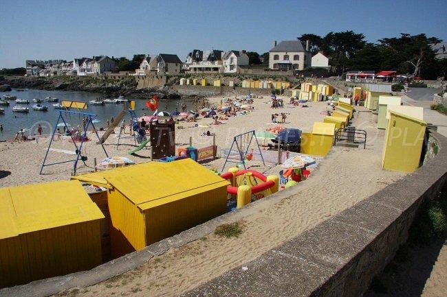 The beach huts of Batz sur Mer
