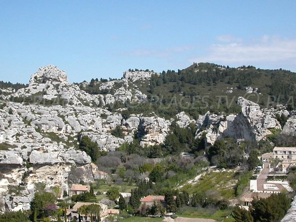 View from the village of Baux de Provence