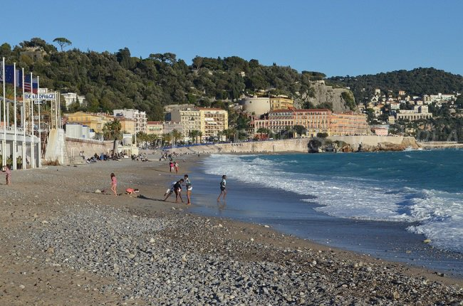 Beau Rivage beach in winter - Nice - France