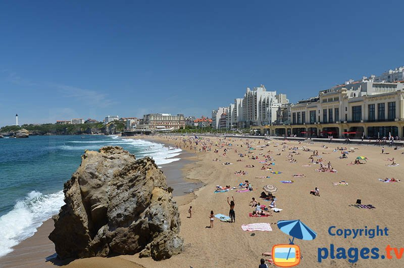 Main beach of Biarritz - one of the most beautiful