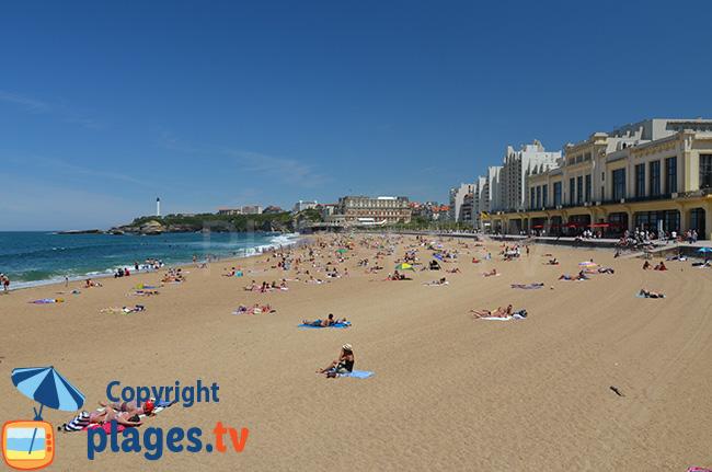 Plage du Casino de Biarritz