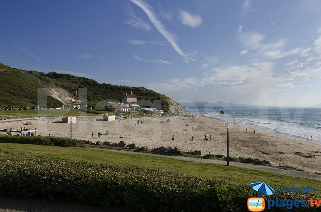 Ilbarritz beach in France
