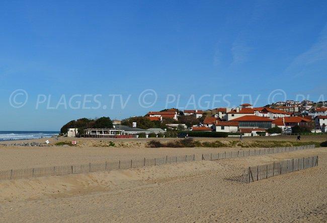 Bidart and its main beach - France