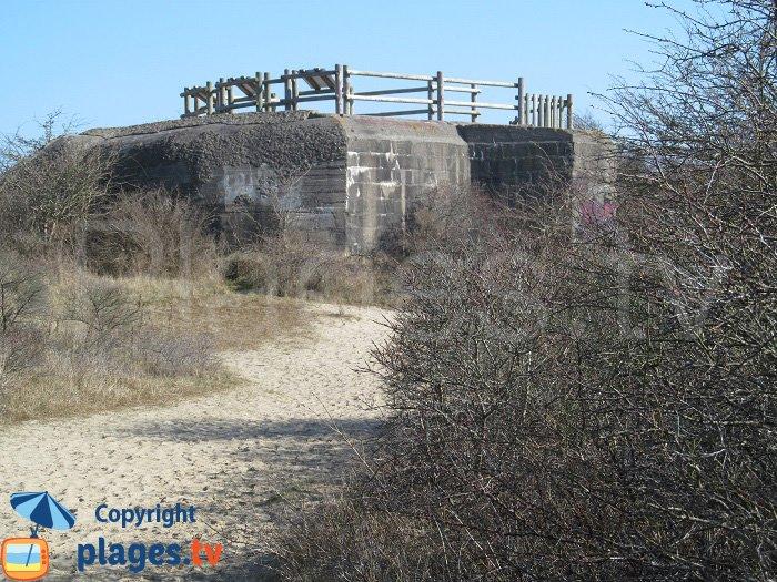 Blockhaus à Bray-Dunes transformé en point de vue