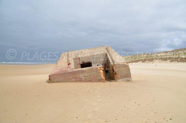 Bunker on the Lacanau-Ocean beach
