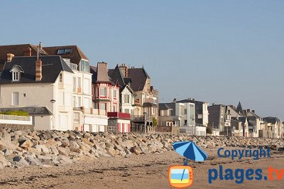Seaside resort of Coutainville in France