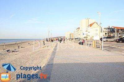 Seaside of Hardelot in France