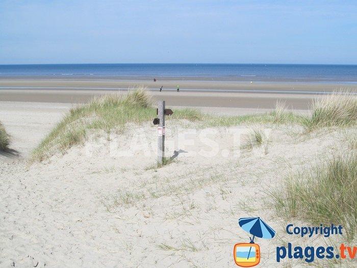 Arrivée sur le bord de mer de Bray-Dunes