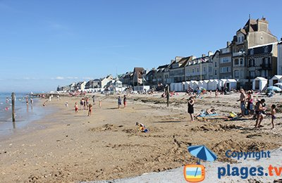Beachfront of St Aubin sur Mer (Normandy)