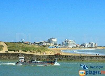 St Gilles Croix de Vie in France with the beach