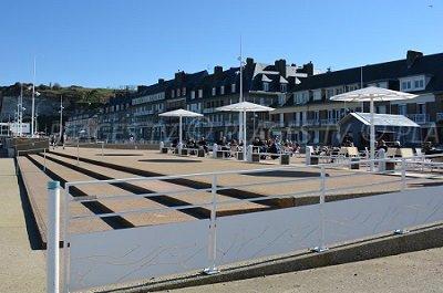 Seaside front of Saint Valery en Caux