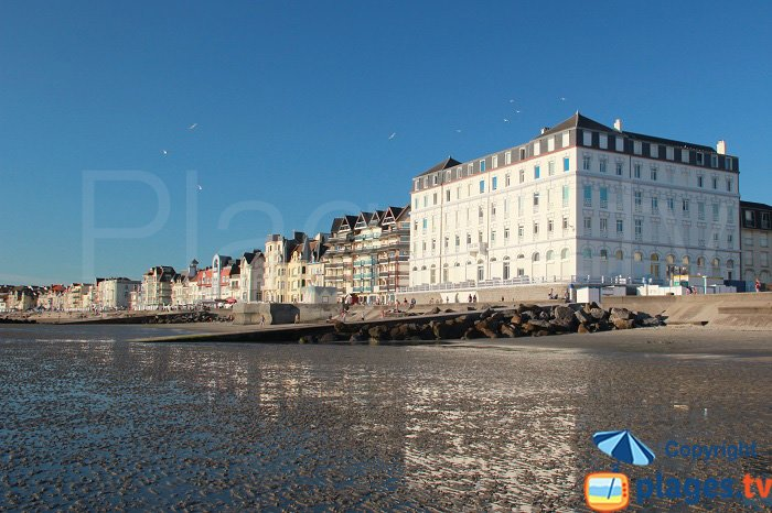 Wimereux at the end of the day - France