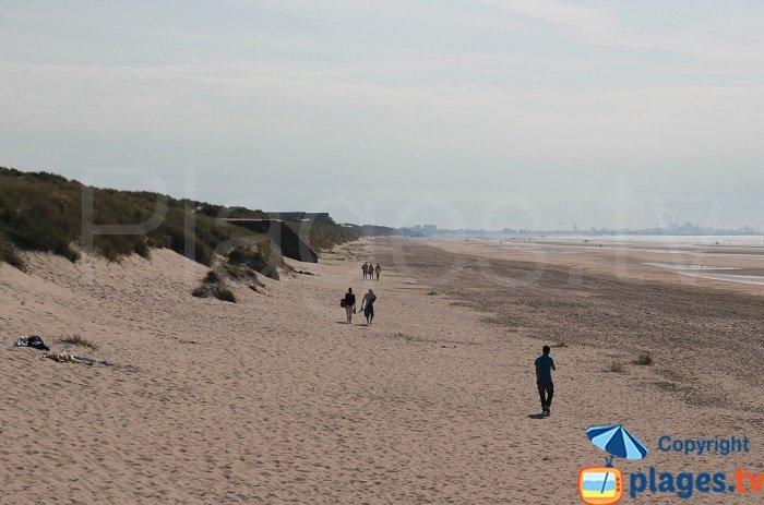 Plage derrière l dune Marchand