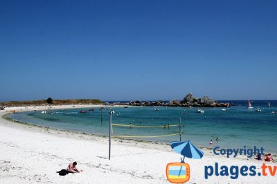 Brignogan in Brittany in France: the beach