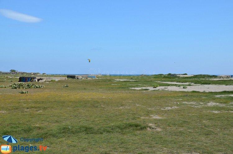 Bunkers sur la plage de Torreilles