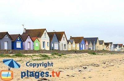 Cabanes de Ravenoville en bord de mer