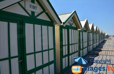 Cabines de bains sur la plage de Cayeux sur Mer