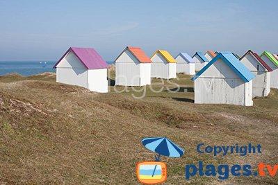 Huts in Gouville sur Mer