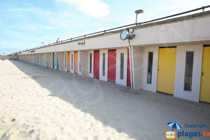 Bathing huts on the beach of Le Touquet